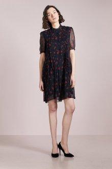 Шелковое платье цветочное