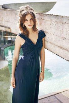 Шелковое платье с драпировкой