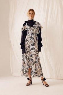 Шелковое платье в стиле гранж