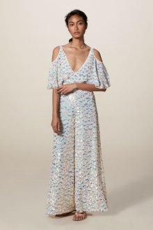 Шелковое платье комбинезон