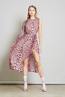 Шелковое платье леопардовое