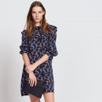 Шелковое платье пейсли