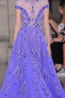 Шелковое платье синее