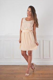Шелковое платье светлое