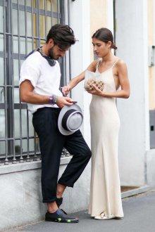 Шелковое платье вечернее белое