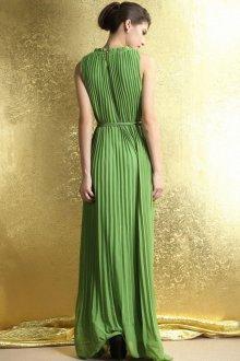 Шелковое платье зеленое