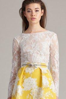 Кружевная блузка белая из гипюра