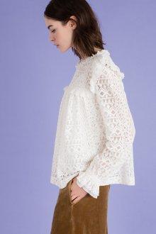 Кружевная блузка геометрическая