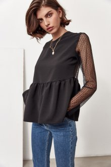 Кружевная блузка из гипюра