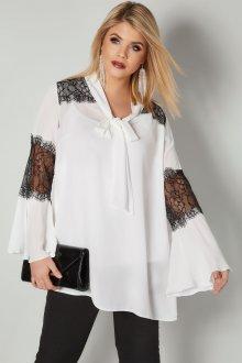 Кружевная блузка контрастная