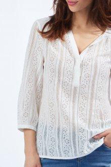 Кружевная блузка поло