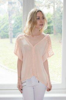 Кружевная блузка прямая