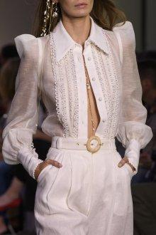 Кружевная блузка на пуговицах
