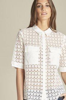 Кружевная блузка рубашка