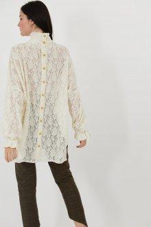 Кружевная блузка туника