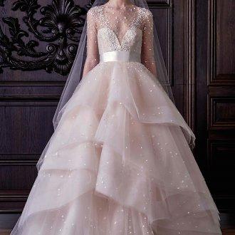 Пышное свадебное платье с бисером