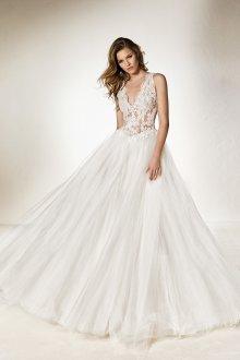 Пышное свадебное платье кружевное