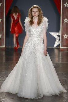 Пышное свадебное платье металлик