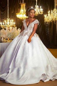 Пышное свадебное платье для полных