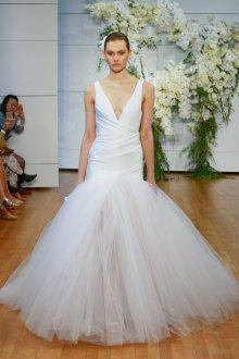 Пышное свадебное платье русалка из тюля