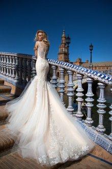 Пышное свадебное платье русалка