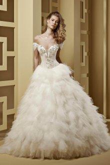Пышное свадебное платье с сеткой