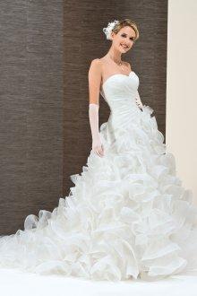 Пышное свадебное платье шифоновое