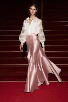 Юбка с завышенной талией розовая