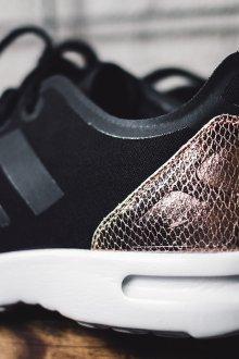 Черные кеды из металлизированной кожи