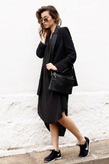 Черные кеды с пиджаком