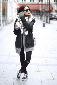Черные кеды стильные