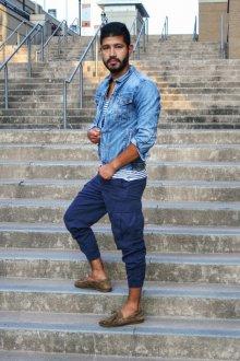 Мокасины мужские с брюками