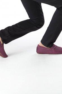 Мокасины мужские фиолетовые