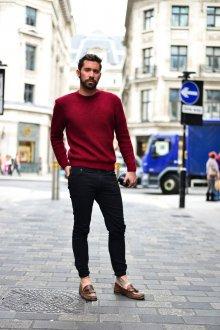 Мокасины мужские модные