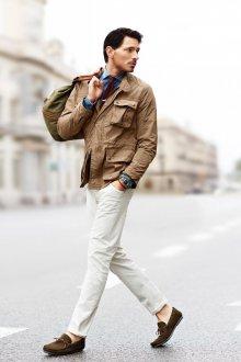 Мокасины мужские со штанами
