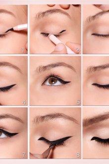 Восточный макияж со стрелками пошагово