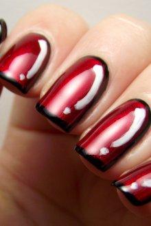 Бордовый маникюр дизайн ногтей