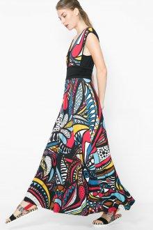 Расклешенное платье с крупным принтом