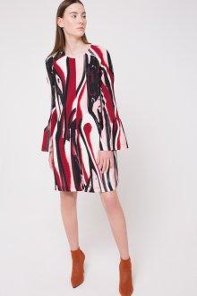 Расклешенное платье с принтом