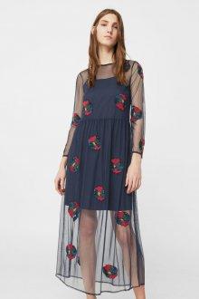 Платье с фатином и аппликацией