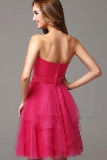 Платье с фатином и асимметричной юбкой