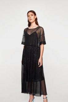 Платье с фатином блестящее