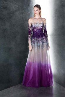 Платье с фатином фиолетовое