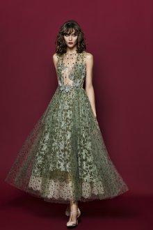 Платье с фатином кружевное