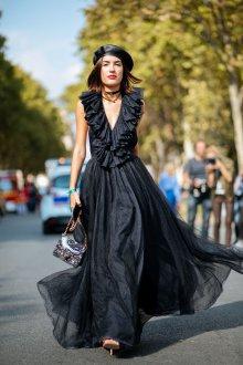 Платье с фатином макси