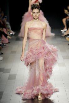Платье с фатином розовое