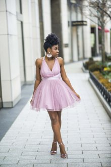 Платье с фатином тенденции