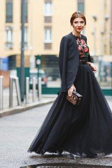 Платье с фатином и топом