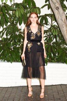 Платье с фатином золотое
