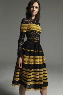 Платье в полоску 2019 ажурное